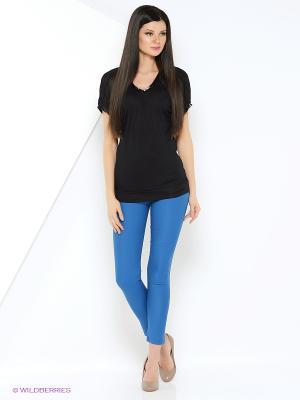 Женские брюки с врезными карманами INDIGIRA. Цвет: бирюзовый