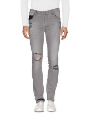 Джинсовые брюки LES ÉCLAIRES. Цвет: серый