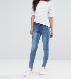 New Look Tall Супермягкие зауженные джинсы. Цвет: синий