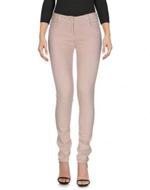 Джинсовые брюки KI6? WHO ARE YOU?. Цвет: светло-розовый
