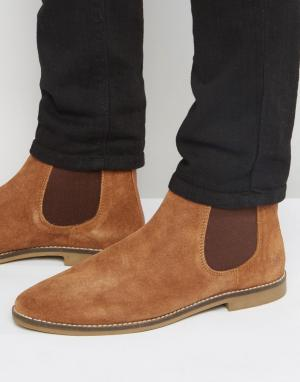 KG Kurt Geiger Замшевые ботинки челси By Kinross. Цвет: рыжий