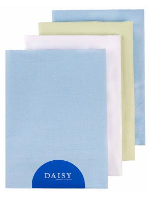 Пеленка, 4 шт. DAISY. Цвет: салатовый, белый, голубой