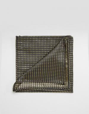 ASOS Золотистый фактурный платок для нагрудного кармана. Цвет: золотой