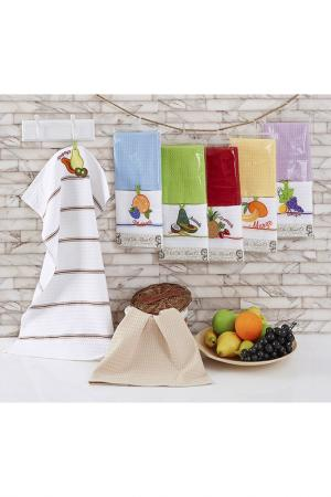 Кухонные салфетки 45х70, 2 шт Sofi De Marko. Цвет: желтый