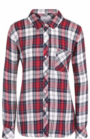 Блуза свободного кроя в клетку Rails. Цвет: разноцветный