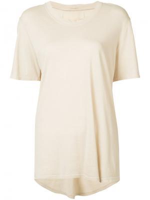 Базовая футболка Raquel Allegra. Цвет: телесный