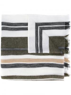 Полосатый шарф Dondup. Цвет: многоцветный