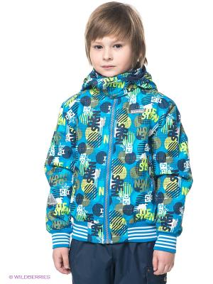 Куртка Kerry. Цвет: синий, салатовый, белый