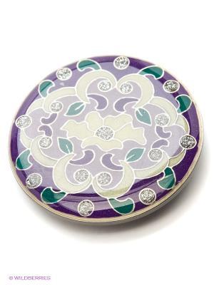 Зажим Clara Bijoux. Цвет: зеленый, сиреневый, фиолетовый, бежевый