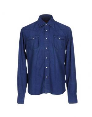 Джинсовая рубашка JACOB COHЁN. Цвет: синий