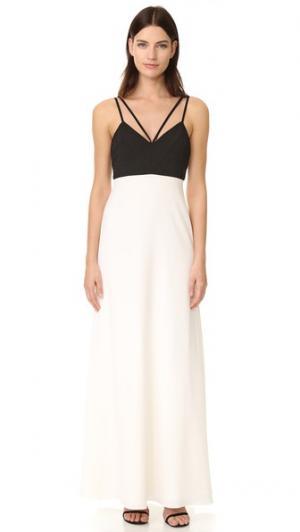 Вечернее платье с цветными блоками Jill Stuart. Цвет: черный/оттенок белого
