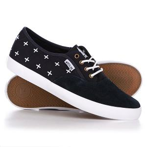 Кеды кроссовки низкие  Daily Navy/White Naut Dekline. Цвет: черный