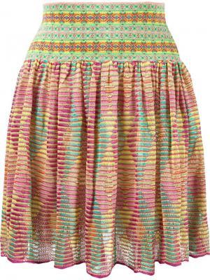 Расклешенная вязаная юбка Cecilia Prado. Цвет: многоцветный