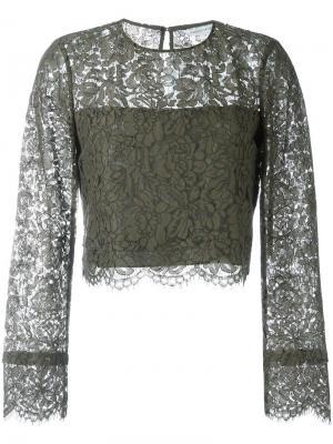 Блузка Yeva Dvf Diane Von Furstenberg. Цвет: зелёный
