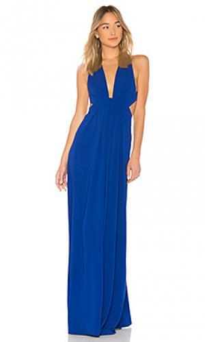 Вечернее платье v neck JILL STUART. Цвет: синий