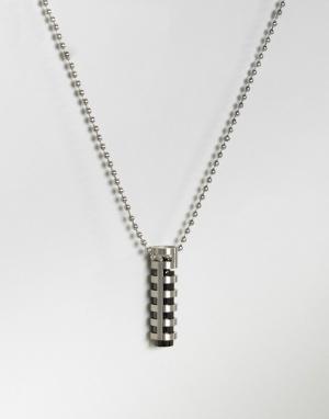 Seven London Серебристое ожерелье с трубчатой подвеской. Цвет: серебряный