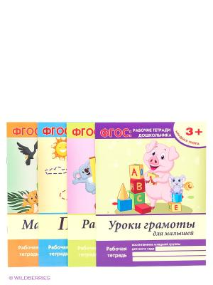 ФГОС: рабочие тетради дошкольника: младшая группа Феникс-Премьер. Цвет: светло-зеленый, желтый, розовый, серо-зеленый