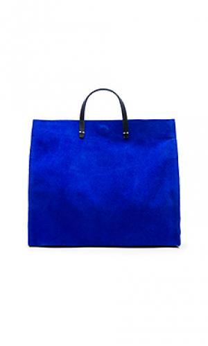 Простая сумка-тоут maison Clare V.. Цвет: королевский синий