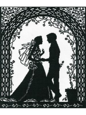 Любовь и розы набор для вышивания 29х34 см NITEX. Цвет: черный, белый