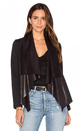 Куртка mixed media Splendid. Цвет: черный