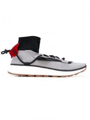 Фактурные кроссовки с носочной вставкой Adidas Originals By Alexander Wang. Цвет: серый