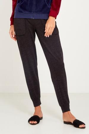 Домашние брюки из серого меланжа P.J. Salvage. Цвет: коричневый