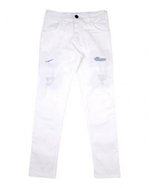 Джинсовые брюки MNML COUTURE. Цвет: белый