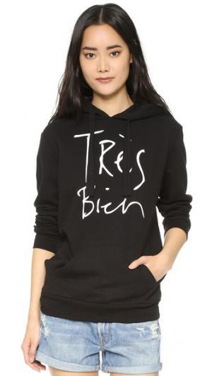 Пуловер с капюшоном Tres Bien CHRLDR. Цвет: голубой