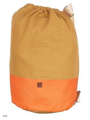 Сумка United Colors of Benetton. Цвет: молочный, оливковый, оранжевый