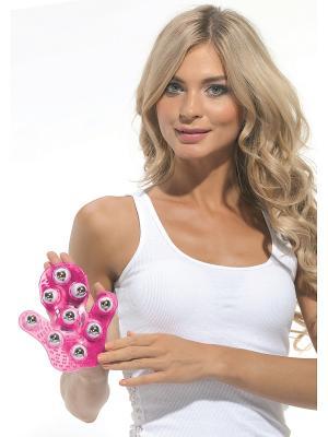 Массажер шариковый ручной Варежка BRADEX. Цвет: розовый