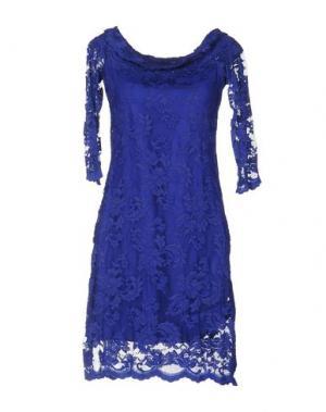 Короткое платье OLVI'S. Цвет: синий