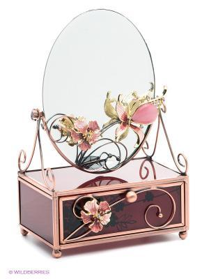 Зеркало на шкатулке Jardin DEte Багровый закат D'ETE. Цвет: бронзовый, бордовый
