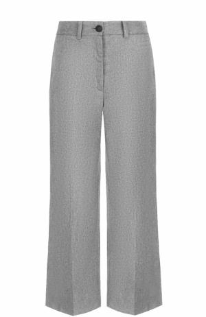 Укороченные расклешенные брюки со стрелками Rag&Bone. Цвет: светло-серый