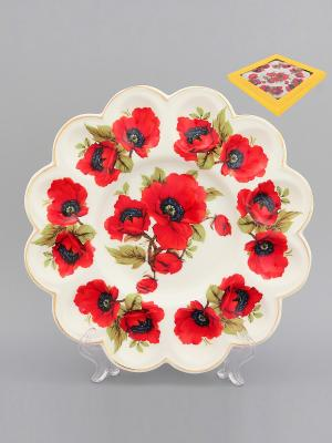 Тарелка для фаршированных яиц Маки Elan Gallery. Цвет: красный, белый