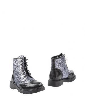 Полусапоги и высокие ботинки GIOIOSITA. Цвет: серый