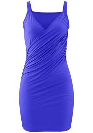 Пляжное платье BEACH TIME. Цвет: королевский синий