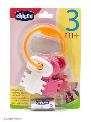 Погремушка Ключи на кольце CHICCO. Цвет: оранжевый, розовый