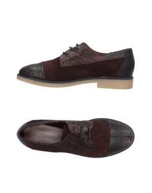 Обувь на шнурках GIONATA. Цвет: темно-коричневый
