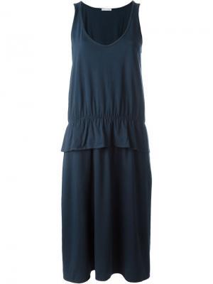Платье с баской Société Anonyme. Цвет: синий