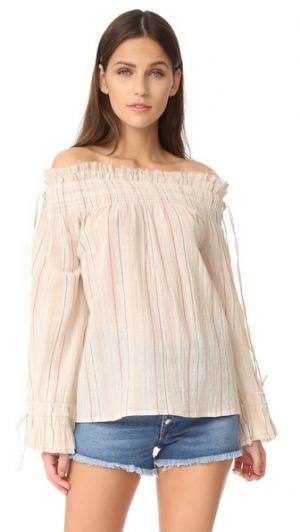 Блуза со сборками Love Sam. Цвет: нейтральный
