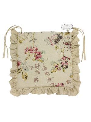 Подушка  на стул Naturel. Цвет: бежевый, бордовый