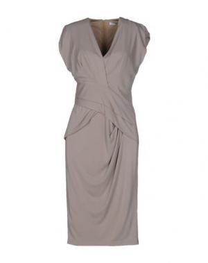 Платье до колена GAI MATTIOLO. Цвет: серый