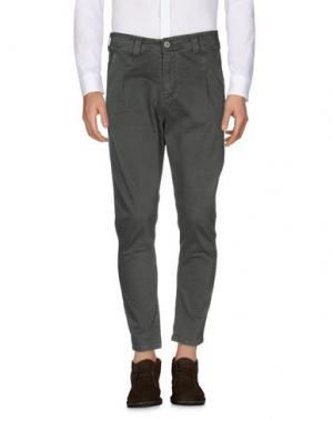 Повседневные брюки EXIBIT. Цвет: зеленый-милитари