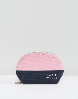 Jack Wills Кошелек для монет. Цвет: темно-синий
