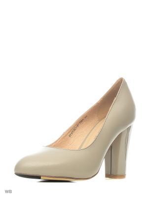 Туфли EVITA. Цвет: серый