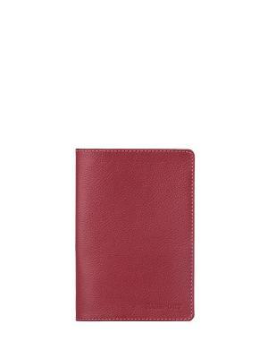 Обложка для паспорта FABULA. Цвет: малиновый