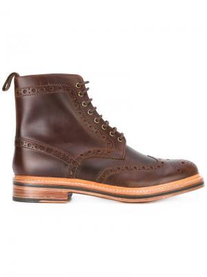 Ботинки Fred Grenson. Цвет: коричневый