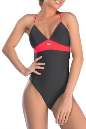 Swimsuit GWINNER. Цвет: dark gray and pink
