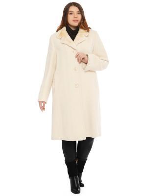 Пальто Fashion, S.A.. Цвет: молочный