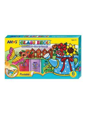 Краски AMOS. Цвет: голубой